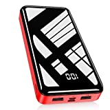 Bextoo Powerbank 30000mAh, Batterie Externe Haute capacité avec 2 Sorties et entrée Pack Batterie USB avec Affichage numérique LCD Chargeur Externe Ultra Compact pour téléphone Portable, Tablette