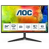 AOC Moniteur 24B1H 59,9cm (23.6pouces) (VGA, HDMI, dalle MVA, 1920x1080px, 60Hz) noir