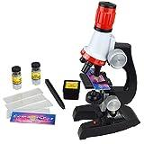 Xrten Microscope Enfant, Kit De Microscope Éducatif Jouets Cadeau D'éducation Précoce, 100X 400X 1200X
