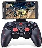 Maegoo Manette Sans Fil PC PS3, 2.4G Bluetooth de Jeu Android Manette Gamepad Joystick pour PS3 PC Windows Android Smartphone avec support de Téléphone