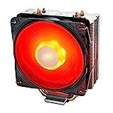 DEEP COOL GAMMAXX 400 V2 Rouge, Ventilateur de Processeur PC, 4 Caloducs, Ventilateur 120mm PWM LED Rouge, Intel & AMD