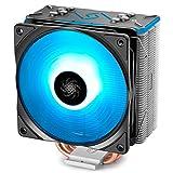DEEP COOL GAMMAXX GT BK, Ventilateur de processeur PC, 4 Caloducs, Ventilateur 120mm PWM RGB, Intel & AMD